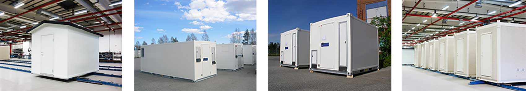 Prefabricated, modular data centres